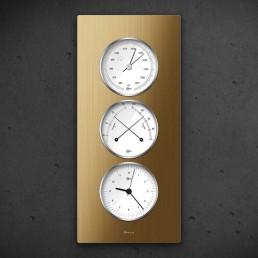 Carus CAELA - Thermo Baro Hygrometer Uhr Bronze
