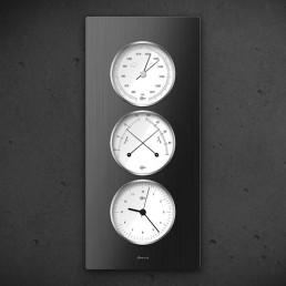 Carus CAELA - Thermo Baro Hygrometer Uhr Schwarz