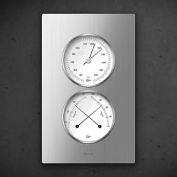Carus CAELA - Thermo Baro Hygrometer Silber